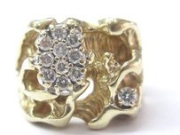Fine Huge Diamond Yellow Gold Jewelry Ring 14kt 0.65ct