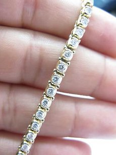 Fine Round Cut Diamond Halo Tennis Bracelet 2.31ct