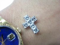 Other Fine Asscher Cut Diamond Cross Pendant Wg 3.47ct
