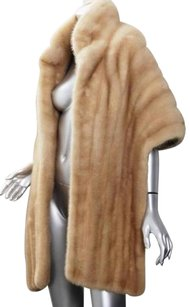 Flier Furs Womens Vintage Genuine Mink Fur Stole Wrap Capelet Shawl One