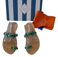 Verde Jeweled Green Sandals