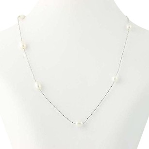 Other Freshwater Pearl Necklace 14 - 18k White Gold Bead Chain June Gift