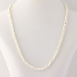 Other Freshwater Pearl Strand Necklace 17 14- 10k Yellow Gold Fine June Gift Classic