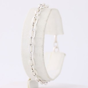 Friedrich Binder Modified Cable Chain Bracelet 7 - 835 Silver Textured