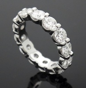 Gal Certified 2.80 Ct Brilliant Eternity Diamond Band Platinum R67