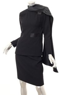 Other Galanos Vintage Womens Classic Black Scarf Toppencil Skirt Suit Outfit