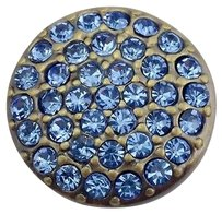 Other Ginger Snaps Brass Ritzy Light Sapphire Snap Light Blue Stones Sn07-40