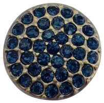 Other Ginger Snaps Brass Ritzy Montana Snap Blue Stones Sn07-41