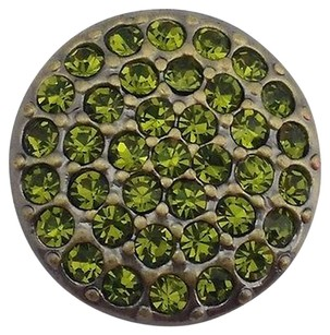 Other Ginger Snaps Brass Ritzy Olivine Snap Green Stones Sn07-39