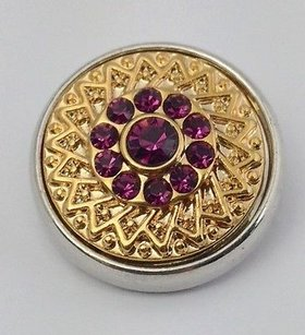 Ginger Snaps Gold Rush Amethyst Snap Purple Stones Sn05-99