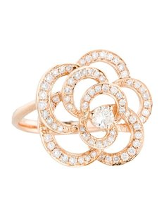 Other Glk 14k Rose Gold 0.80ct Diamond Floral Ring