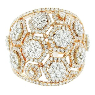 Other Glk 18k Two-tone Diamond Cluster Ring