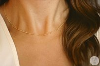 Other Gold/silver satellite dainty necklace