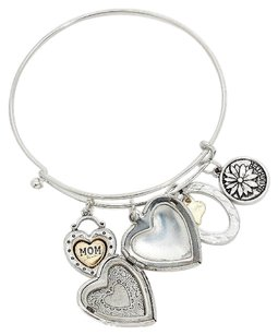 Other heart locket charm bracelet