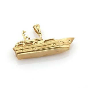 Heavy Estate 14k Yellow Gold Intricate Design Yacht Pendant