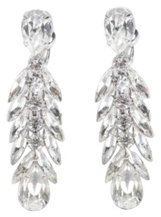 Other House Of Lavande Napier Silver Crystal Clip-on Dangle Chandelier Earrings