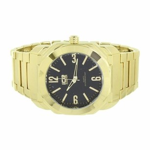 Ice Master Watch Black Dial Gold Tone Stainless Steel Back Analog Display Classy