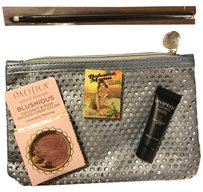 Other Ipsy Cosmetic Makeup Bag Silver with makeup included