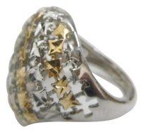 Other Sterling Silver Two-Tone Ring with Gold Accents Size 8