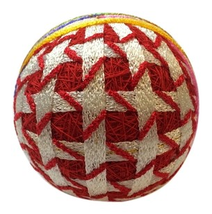 Japanese Gorgeous Thousand Crane Temari Traditional Handmade Ball Diameter 8cm