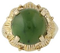 Nephrite Jade Ring - 14k Yellow Gold 34 Womens Solitaire 5.29ct