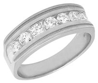 Other 10k White Gold Mens Genuine Diamond Channel Wedding Engagement Ring Band 1.0ct
