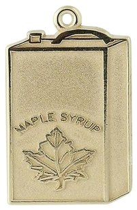 Other Maple Syrup Charm - 10k Yellow Gold Pendant Maple Leaf Keepsake Souvenir
