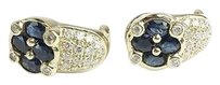 14kt Sapphire Diamond Earrings Apx .88ctw Max064622