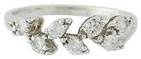 Other Diamond Ring - 14k White Gold Garland Design .50ctw
