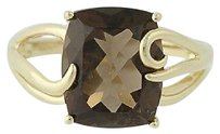 Other Smoky Quartz Ring - 14k Yellow Gold Womens Solitaire 5.60ct