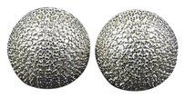 925 Sterling Silver Simulated Diamond Yellow Finish Sphere Stud Earrings 12mm