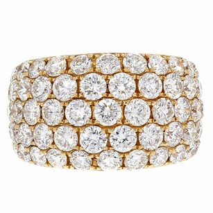 Other 4.40ct Round Cut Diamonds 18k Rose Gold Band Ring