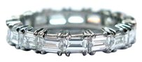 Platinum Baguette Diamond Eternity Band Ring 17-stones 4.26ct 9.25