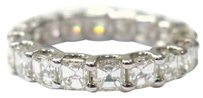 Other Fine Asscher Cut Diamond Eternity Ring 4.20ct White Gold