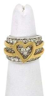 Other Lovely 18k Two Tone Gold 3.35ctw Diamond Heart Design Ladies Ring
