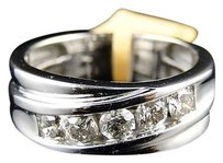 ,Mens,White,Gold,Round,Cut,Diamond,8.5,Mm,Wedding,Band,Channel,Ring,1.1,Ct