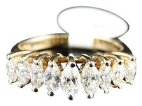 14k,Ladies,Yellow,Gold,Marquise,Diamond,Engagement,Wedding,Band,Ring,.96,Ct