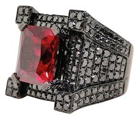 Other ,Mens,Black,Diamond,Ring,Solitaire,Band,Semi,Mount,Pinky,Castle,Ring,7.05,Ct