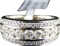 14k,Mens,Ladies,White,Gold,Round,Diamond,Channel,8mm,Wedding,Band,Ring,1.04,Ct
