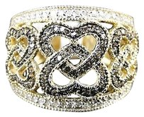 10k,Ladies,Brown,White,Diamond,Fashion,Band,Ring