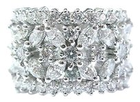 18kt,Marquise,Round,Cut,Diamond,White,Gold,Wide,Jewelry,Ring,2.43ct