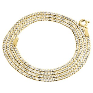 Other Real 10k Yellow Gold Solid Diamond Cut Cuban Link Chain 2mm Necklace 16-24 Inch