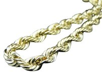 ,120th,Yellow,Gold,6,Mm,Hallow,Rope,Franco,Chain,Necklace,28,Inch