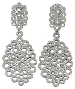 Exquisite 14k White Gold 4.15ctw G Si1 Diamond Chandelier Earrings