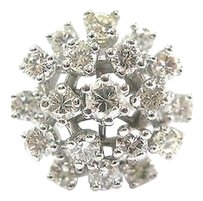Other Fine Round Cut Diamond Cocktail Jewelry Ring Wg 2.41ct