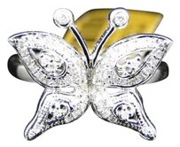 Other 10k,White,Gold,Ladies,Womens,Butterfly,Shape,Fashion,Designer,Diamond,Ring,.40ct
