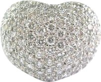 18kt,Heart,Diamond,Pave,Jewelry,Ring,Wg,2.32ct
