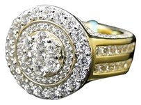 Mens Iced Out 3d Solitaire Style Simulated Lab Diamond Eternity Pinky Ring