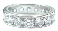 Platinum,Round,Diamond,Channel,Set,Eternity,Band,Ring,4.00ct,F-vvsvs,Sz,5
