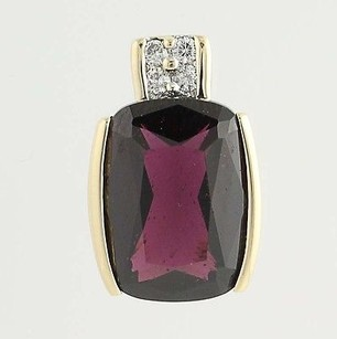Rhodolite Garnet Diamond Pendant - 14k Yellow Gold 5.64ctw